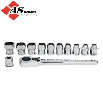 "SNAP-ON 12 pc 1/4"" Drive 12-Point Metric Flank Drive Low-Profile Ratchet/ Socket Set / Model: 112RTMA"