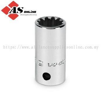 "SNAP-ON Socket, Spline, Shallow, #12, 3/8"" Hex / Model: TES12B"