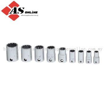 SNAP-ON 9 pc Combination Drive SAE Shallow Spline Socket Set / Model: 209TFES