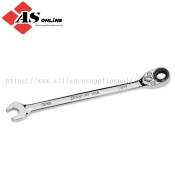 """SNAP-ON 3/8"""" 12-Point SAE Flank Drive Plus Ratcheting Box/ Open-End Combination Wrench / Model: SOXRR12A"""