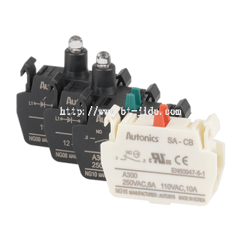 SA-C,L Series Contact Blocks and LED Blocks for Ø22,25, Ø30, ��30 mm Control Switches