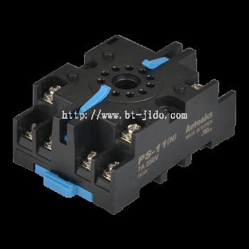 PS Series 8-Pin/11-Pin Controller Sockets (DIN Rail,Panel)