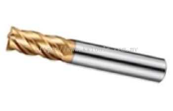 ROCK 2F MICRO & DECIMAL CARBIDE ENDMILL GOLD 55 HRC 4F (H504)