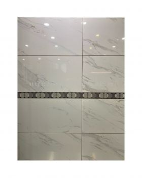 30X60CM MARBLE WITH GOLD TILES
