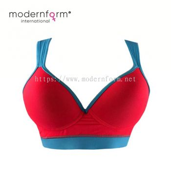 High Quality Women Sport Bra Running Gym Yoga Fitness Push Up Training Bra (M036 Red Blue)