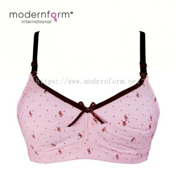Teen Girls Soft Bra Adjustable Teenage Underwear (8832 Pink)