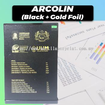 Acrolin Hardcover (Black + Gold Foil)