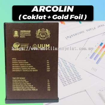 Acrolin Hardcover (Coklat + Gold Foil)