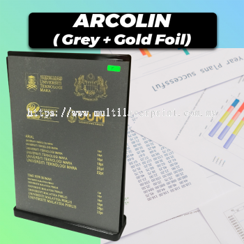 Acrolin Hardcover (Grey + Gold Foil)