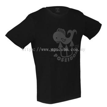 Poseidon T-shirt Fish Black