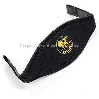 Mask Strap Neoprene Black, Velcro