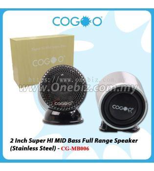 COGOO 2 Inch Super HI MID Bass Full Range Speaker (Stainless Steel) - CG-MB006