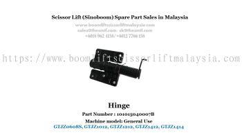Scissor Lift Spare Part- Hinge Part No. : 101015040007B