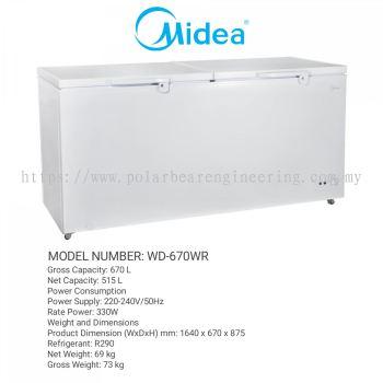 MIDEA CHEST FREEZER WD-670WR