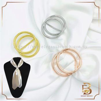 Elegant Brooch Tudung Bawal Ring Tudung Scarf Buckle Ring Simplicity Brooch Ring Bawal Muslimah