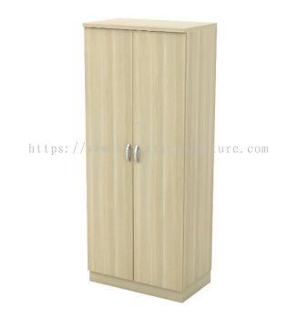PYRAMID HEIGHT WOODEN OFFICE FILING CABINET C/W SWINGING DOOR
