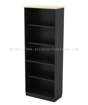 TITUS FULL HEIGHT WOODEN OFFICE FILING CABINET C/W OPEN SHELF AT-YO 21