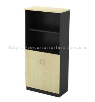 TITUS HEIGHT WOODEN OFFICE FILING CABINET/CUPBOARD SEMI SWINGING DOOR AT-YOD 17