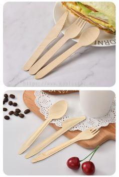 Wooden Knife Wooden Fork Wooden Spoon ľ�;�