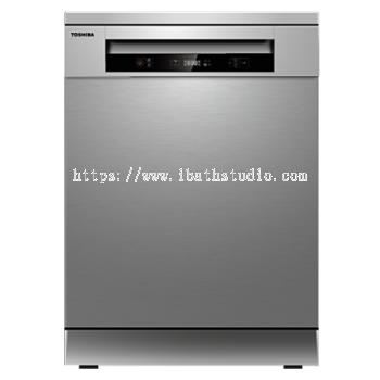 TOSHIBA DW-14F1(S)-MY FREE STANDING DISHWASHER WITH DUAL WASH ZONE (14 PLACE SETTING)