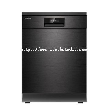 Toshiba Dishwasher Free Standing With Hot Water Wash - Black Stainless Steel DW-14F2