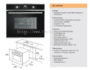 VEES MO-65DT08F BUILT IN OVEN