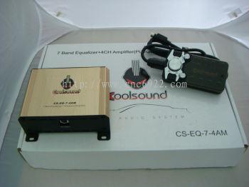 Cool Sound CS-EQ-7-4AM Plug & Play 4 Channel Amplifier- Toyota/ Honda/ Proton (S/N: 000456)