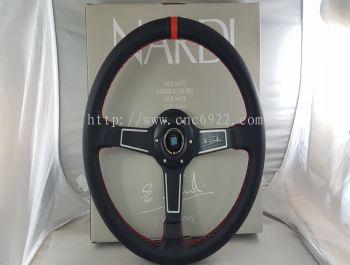 """NARDI STEERING 14"""" PVC 5158 BLACK (S/N:002658)"""