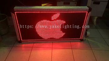 red board 90cm x 63cm.