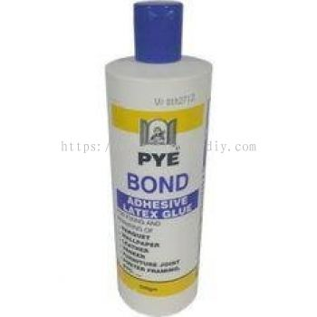 PYE BOND ADHESIVE LATEX GLUE 500GM