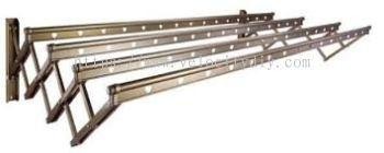 BM6689 2m x 4 Bar Aluminium Retractable Clothes Hanger, Loading Capacity: 50kgs
