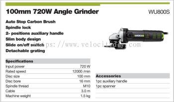WORX ANGLE GRINDER WU-800S