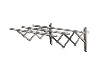 BM3883 25mm x 2m x 3 Tube SUS304 Retractable Clothes Hanger