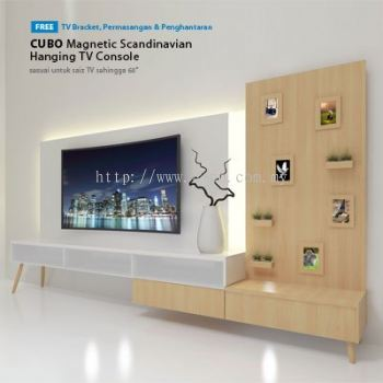 CUBO Magnetic Scandinavian Hanging TV Console HTC 01 | RM132/month