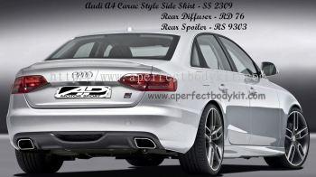 Audi A4 Carac Style Side Skirt, Rear Diffuser, Rear Spoiler