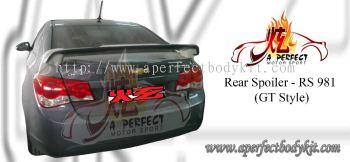 Chevrolet Cruze 2008 GT Style Rear Spoiler