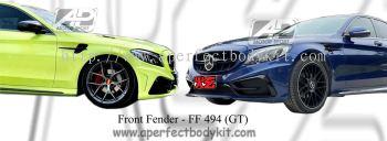 Mercedes C Class W205 Front Fender (GT Look)