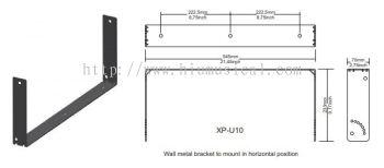 XP-U 10 Metal Bracket Wall Mount for X-PRO 10A Active Speaker