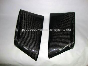 MITSUBISHI LANCER EVO X CARBON REAR BUMPER SIDE GARNARD RALLIART