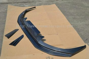 Mitsubishi lancer gt bumper varis add on lip carbon