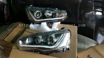 mitsubishi lancer gt headlamp led vox style