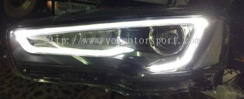 mitsubishi lancer evo x headlamp a5 style led
