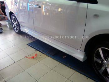 Nissan Livina Autech Bodykit side skirting