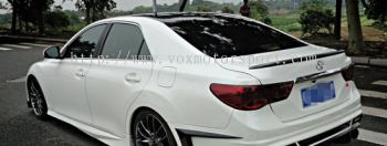 toyota mark x boot spoiler bodykit