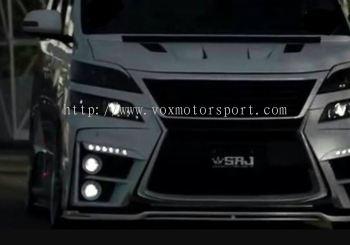 toyota vellfire sixth sence bodykit bumper front set