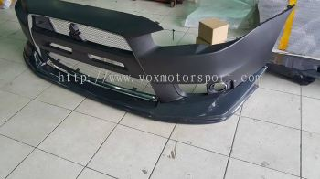 evo x bumper lip jun style abs new