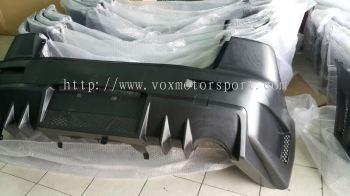mitsubishi lancer ex fq 400 bodykit rear bumper pp material new