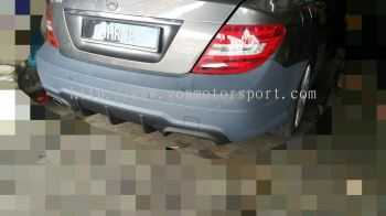 mercedes benz w204 bodykit amg c63 rear bumper