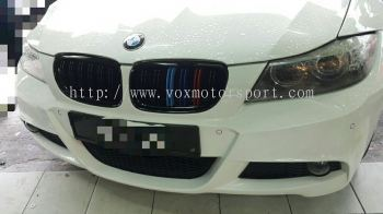 Bmw e90 bumper grille m3 tri color double fin new