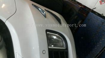 Volkswagen golf mk6 gti bumper front carbon canard new